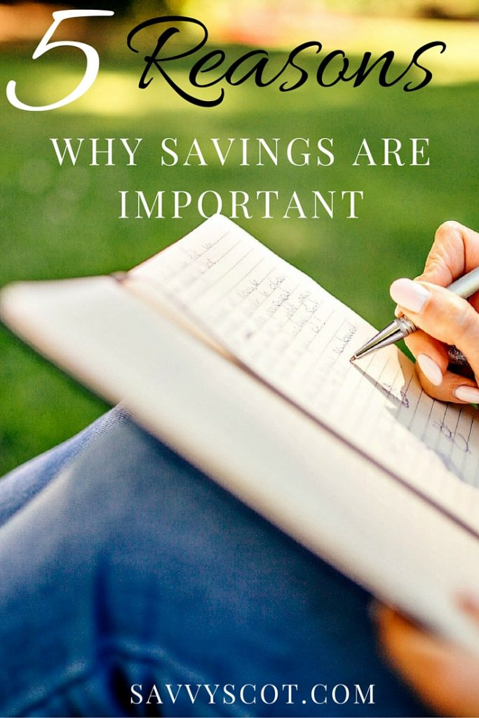 5 reasons why savings are important