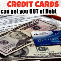 When Credit Cards can get you OUT of Debt