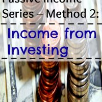 Passive Income Series – Method 2: Income from Investing