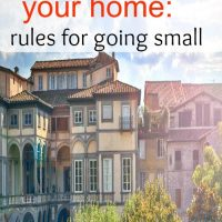 Downsizing your home: rules for going small