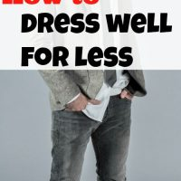 How to dress well for less