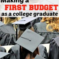 Making a first budget as a college graduate