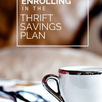 Enrolling In The Thrift Savings Plan