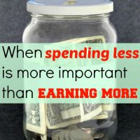 When spending less is more important than earning more