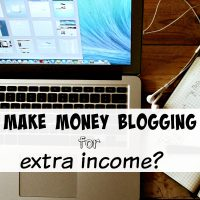 Make money blogging for extra income?