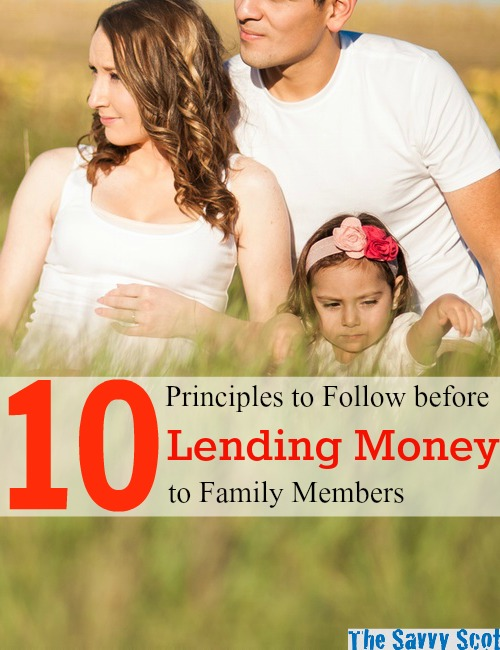 10 Principles to Follow before Lending Money to Family Members