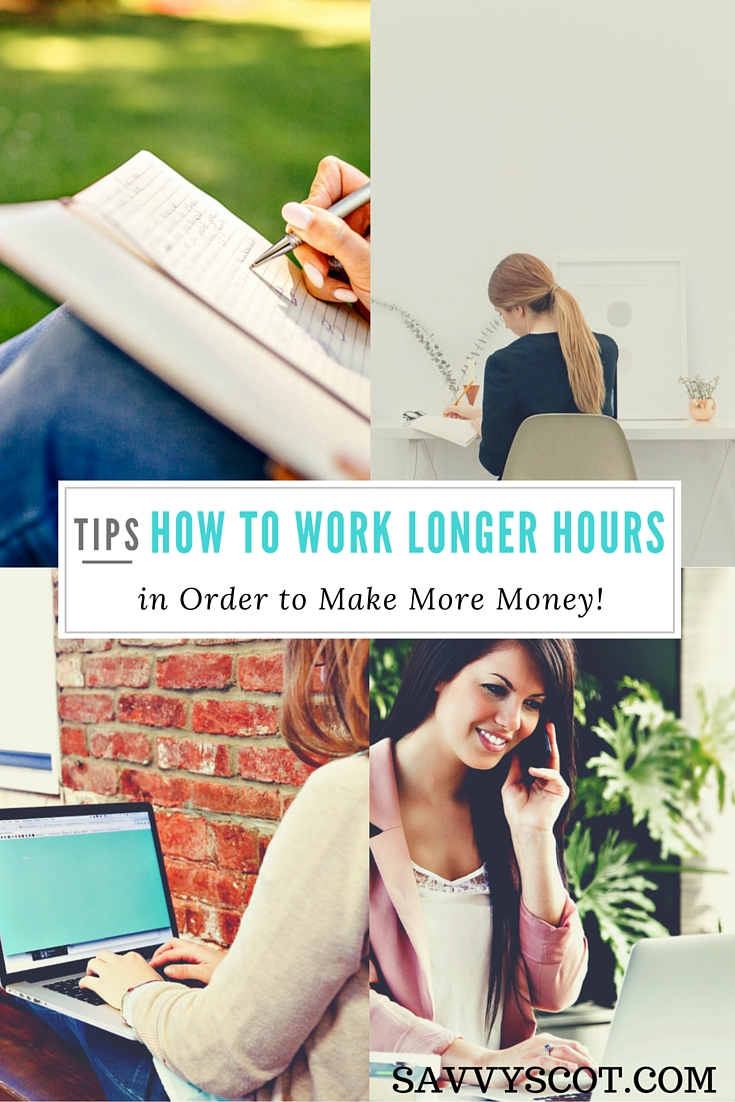 Working Longer Hours in Order to Make More Money