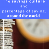 The savings culture and percentage of saving, around the world
