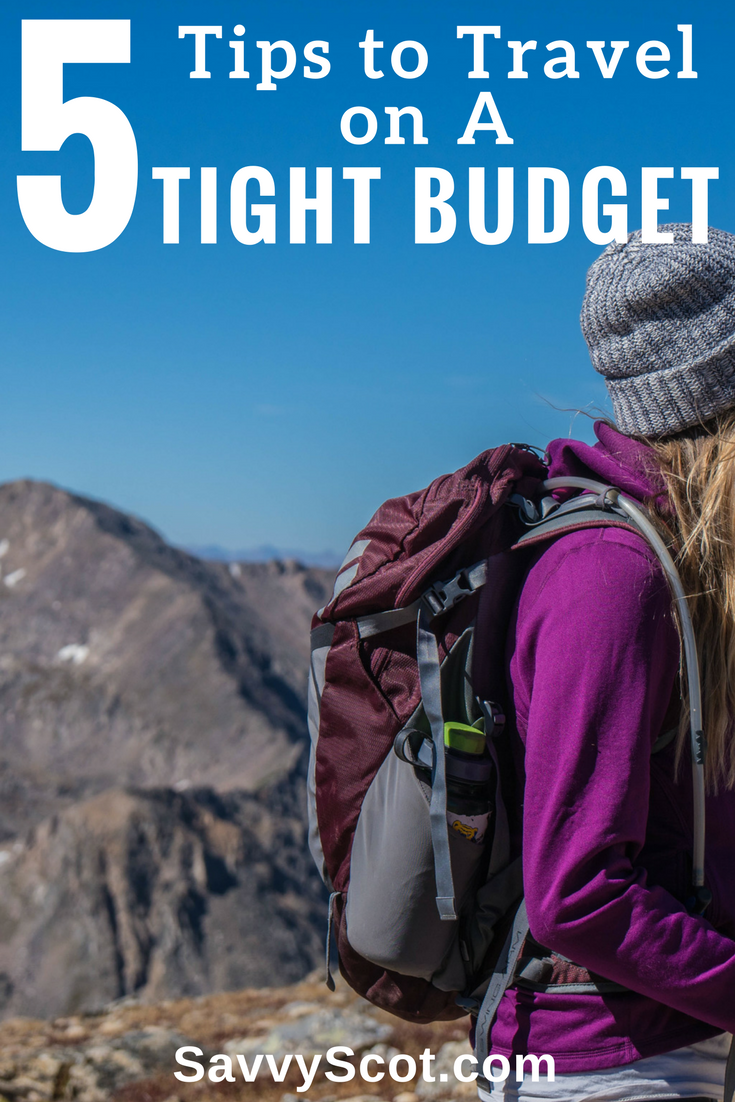 Traveling on a tight budget is not that hard if you keep a few points in mind. We've compiled a list of 5 of the best tips you should undertake to ensure a fun holiday on minimum expenses.