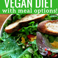 How to be  on a budget friendly vegan diet  with meal options!