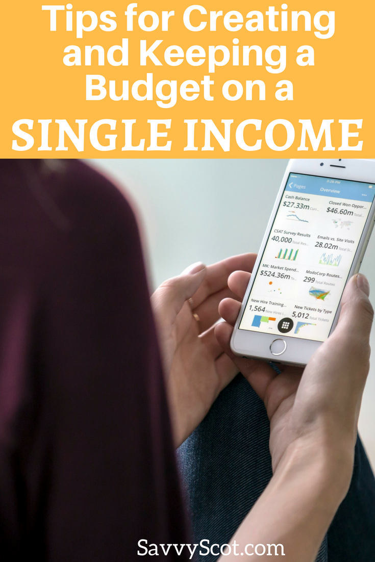 Whether it's a temporary situation, or a long term position, budgeting on a single income can be tricky. Here are some hints and tips to make it easier.