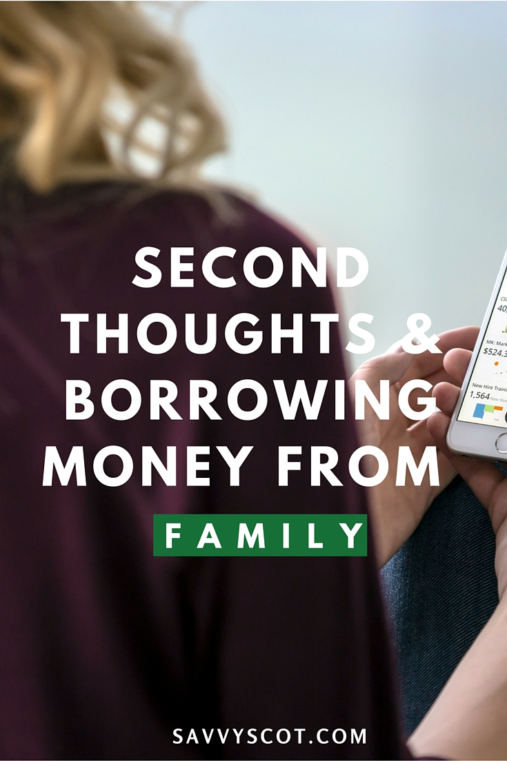 Second Thoughts & Borrowing Money from Family