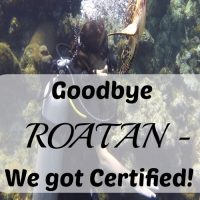 Goodbye Roatan – We got Certified!