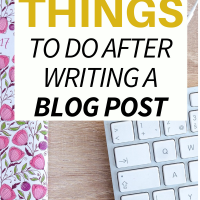 12 Things to Do After Writing a Blog Post. This has really paid of lately, with over 100 hits a day coming from google search traffic!