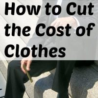How to Cut the Cost of Clothes