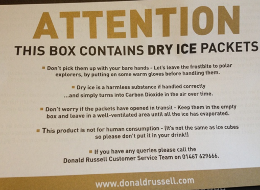 Dry Ice Warning