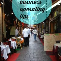 Small business operating tips