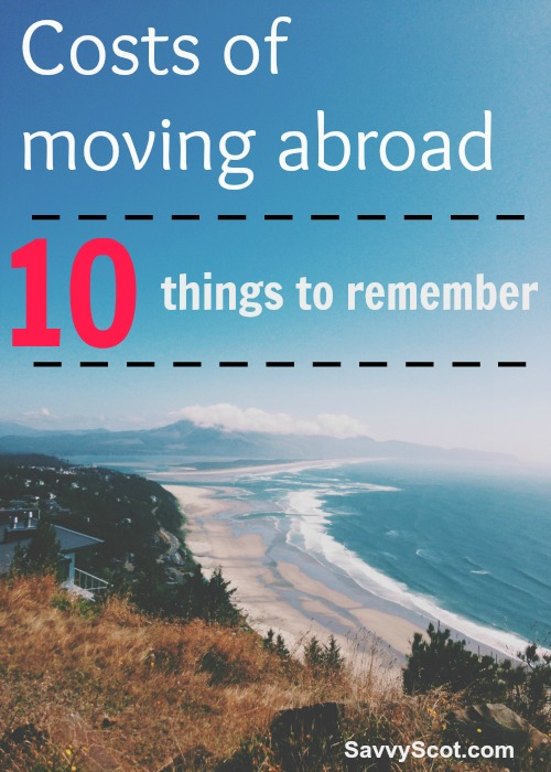 Costs of moving abroad