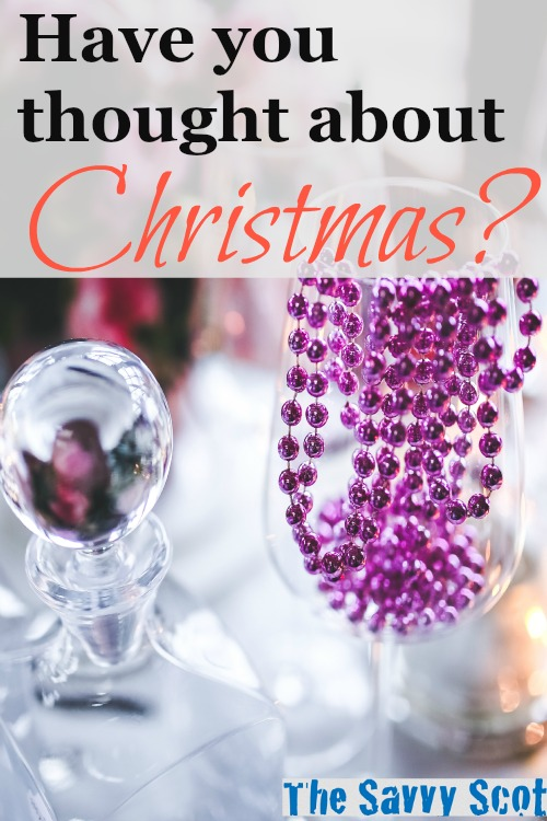 Have you thought about Christmas