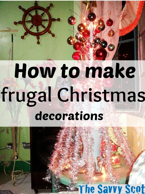 How to make frugal Christmas decorations