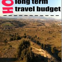 How to keep a long term travel budget