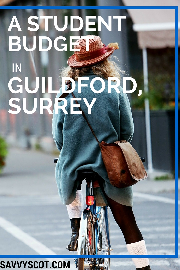 A student budget in Guildford, Surrey