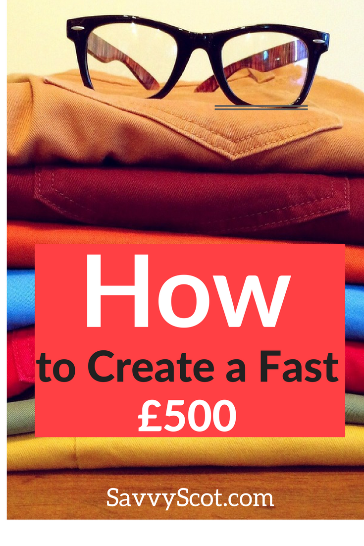Yes, I believe you have an extra £500 lying around. It's time to sell! Would you like an extra £500? Of course you would. This post will show you how to get it.