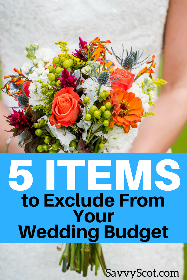 Your wedding is one of the most important days of your life. It is also one of the most stressful days to plan for. Help reduce some of that stress and your budget by excluding these items from your wedding budget.